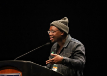 Author Bryan Washington at the Indies Introduce Authors and Booksellers event.