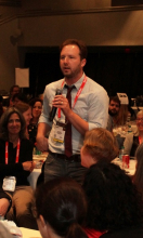 """Adam Gidwitz, author of E.B. White Read-Aloud Middle Reader Honor Book """"The Inquisitor's Tale."""""""
