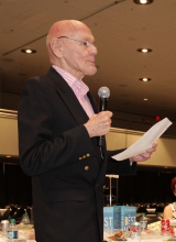 """Richard Peck, author of E.B. White Read-Aloud Middle Reader Honor Book """"The Best Man."""""""