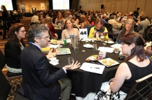 Booksellers learn about upcoming titles at the Rep Picks Lunch.