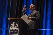 Pulitzer-Prize winning author Junot Díaz delivered the breakfast keynote on Wednesday.
