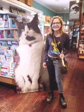 Gallery Bookshop's great Catsby cutout was a huge hit for visitors to the Mendocino, California, store.