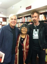 Emmett McDonough, Sharon Hoshida, T.C. Boyle at Granada Books.