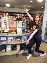 Hickory Stick Bookshop in Washington Depot, Connecticut, showcases special IBD merchandise.