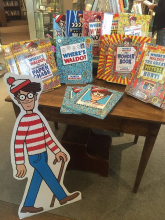 Hickory Stick Bookshop displays a selection of Waldo books.