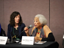 """Janet Webster Jones at the education session """"Yes She Can: Programs and Partnerships to Empower Women."""""""