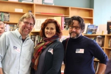 Joe Kurmaskie, Karen Karbo, Richard Melo at Broadway Books.