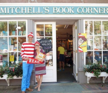Mitchell's Book Corner kicks off Find Waldo Local in full regalia.