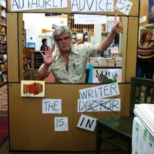Author Chris Offutt offers advice at Square Books in Oxford, Mississippi.