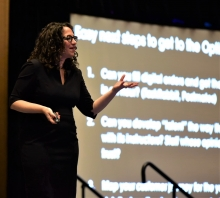 Futurist Amy Webb delivered the Thursday morning keynote.
