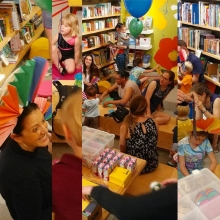"""""""The Mane Event"""" at Interabang Books in Dallas featured story time, lion crafts, and a roaring contest."""