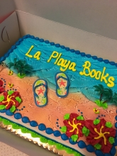 La Playa Book's IBD cake.