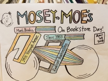"""A finished """"Mosey to Moe's"""" coloring sheet from the Berkeley store's IBD contest"""