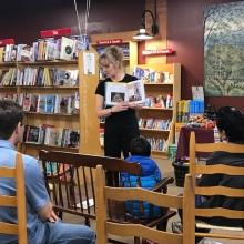 Circus DIY author Jackie Leigh Davis at The Toadstool Bookshop