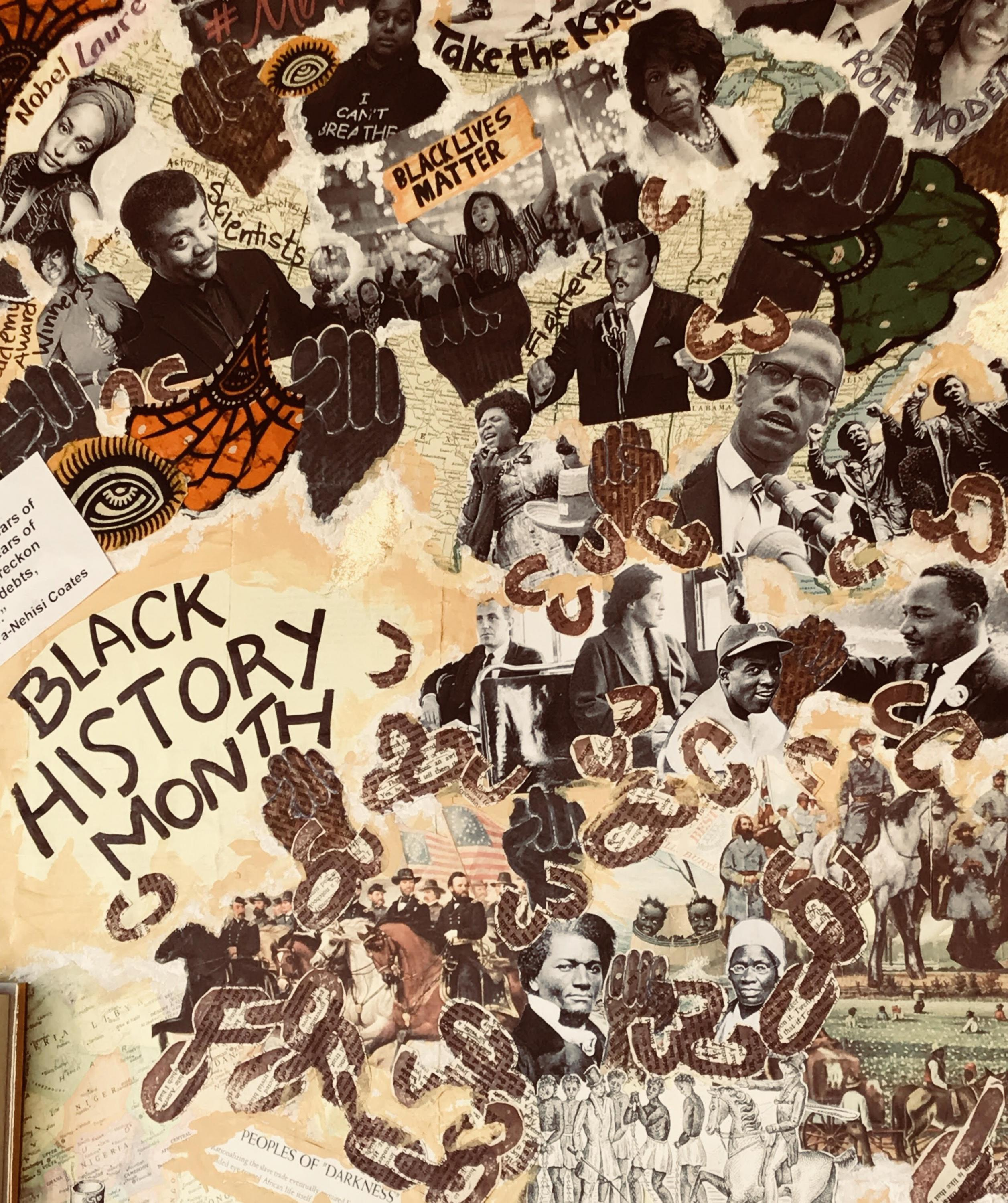 The Black History Month display at the Vermont Book Shop.